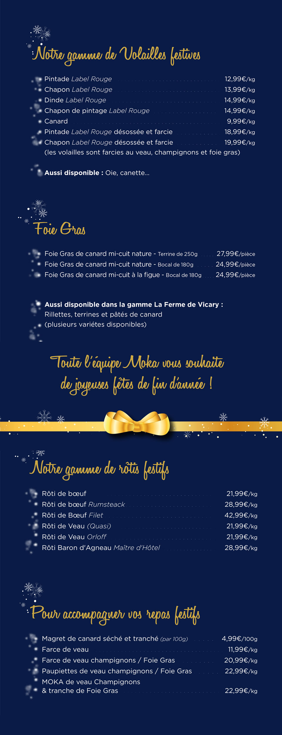 Carte de Noël 2020 - MOKA Boucherie Orientale Saint-Nazaire
